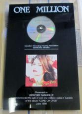 Shania Twain Come On Over Diamond Sales Award One Million Copies Sold CRIA