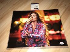 Shania Twain Hand Signed 11x14 Photo Country Music Superstar PSA/DNA Cert
