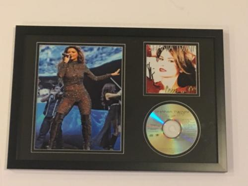 "SHANIA TWAIN SIGNED FRAMED 12x18 ""COME ON OVER"" CD PHOTO DISPLAY LEGEND PROOF"