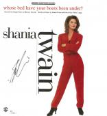 Shania Twain Signed Whose Bed Have Your Boots Auto Sheet Music JSA #S79208