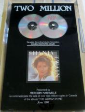 Shania Twain The Woman In Me Double Diamond Sales Award CRIA Award