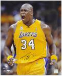 "Los Angeles Lakers Shaquille O'Neal Autographed 16"" x 20"" Photo -- - Mounted Memories"