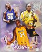 Los Angeles Lakers Shaquille O'Neal MVP Autographed 16'' x 20'' Photo - Mounted Memories