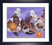 "Shaquille O'Neal Los Angeles Lakers Framed Autographed 16"" x 20"" Photograph with Tim Duncan"