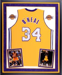 Shaquille O'Neal Los Angeles Lakers Autographed Deluxe Framed Gold Jersey
