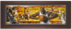 Miami Heat Shaquille O'Neal Unsigned Framed Panoramic Photo - Mounted Memories