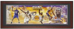 Los Angeles Lakers Shaquille O'Neal Unsigned Framed Panoramic Photo - Mounted Memories