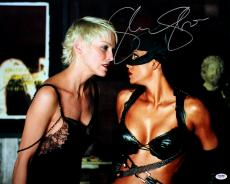 Sharon Stone Autographed Catwoman w/ Halle Berry 16x20 Photo