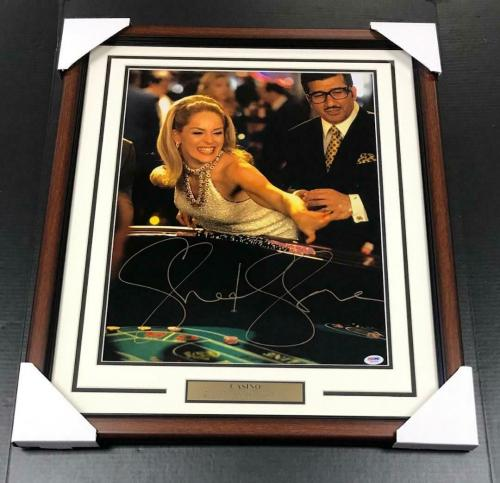 Sharon Stone Casino Signed Authentic Autographed 16x20 Framed Photo Psa Coa