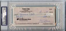 Sharon Stone Signed 1990 Personal Check Autographed PSA/DNA Slabbed