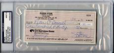Sharon Stone Signed 1991 Personal Check Autographed PSA/DNA Slabbed Mint 9
