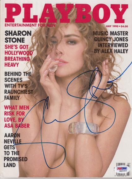 Sharon Stone Signed Autographed 1990 Playboy Magazine PSA/DNA 6A64944 32232