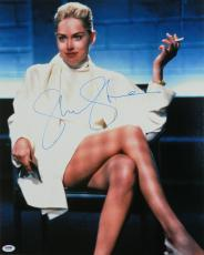 Sharon Stone Signed Basic Instinct Famous Legs Crossed In Chair 16x20 Photo