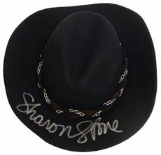 Sharon Stone Signed Black Wool Cowboy Hat - The Quick And The Dead