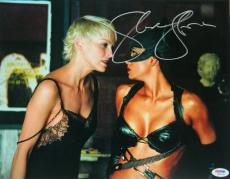 Sharon Stone Signed Catwoman 11x14 Photo w/Halle Berry