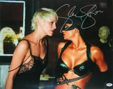 Sharon Stone Signed Catwoman 16x20 Photo w/Halle Berry