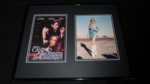 Sharon Stone Signed Framed 16x20 Photo Set JSA Casino w/ Robert De Niro