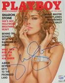 Sharon Stone Signed Playboy Magazine July 1990 Issue