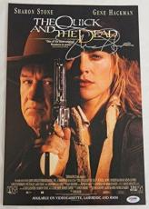 Sharon Stone Signed The Quick And The Dead 11x17 Movie Poster