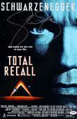Sharon Stone signed Total Recall 11x17 Movie Poster  (w/ Arnold Schwarzenegger)- PSA Hologram (entertainment/movie memorabilia)