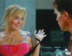 Sharon Stone signed Total Recall Hands Up 11x14 Photo (w/ Arnold Schwarzenegger)- PSA Hologram (entertainment/movie memorabilia)