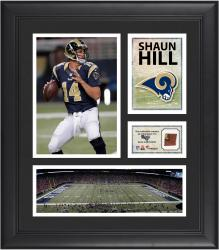 Shaun Hill St. Louis Rams Framed 15'' x 17'' Collage with Game-Used Football