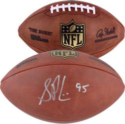Shaun Phillips Autographed Football - Mounted Memories