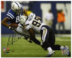 Shaun Phillips San Diego Chargers Autographed 8'' x 10'' vs Indianapolis Colts Photograph - Mounted Memories