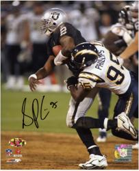 Shaun Phillips San Diego Chargers Autographed 8'' x 10'' vs Oakland Raiders Photograph - Mounted Memories