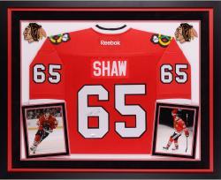 Andrew Shaw Autographed Blackhawks Premier Jersey - Deluxe Framed