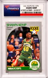 Shawn Kemp Seattle Supersonics Autographed 1990 Hoops Rookie #279 Card