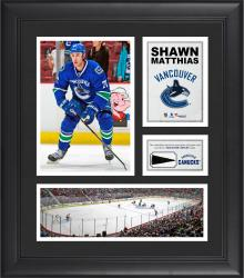 """Shawn Matthias Vancouver Canucks Framed 15"""" x 17"""" Collage with Piece of Game-Used Puck"""