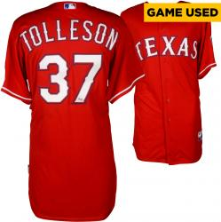 Shawn Tolleson Texas Rangers Game-Used Red Jersey from 5/10/14 vs. Boston Red Sox