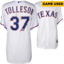 Shawn Tolleson Texas Rangers Game-Used White Jersey from 7/13/14 vs. Los Angeles Angels