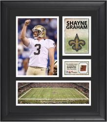 Shayne Graham New Orleans Saints Framed 15'' x 17'' Collage with Game-Used Football