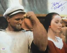 SHELLEY DUVALL AUTOGRAPHED POPEYE 11X14 PHOTO 14406 w/ROBIN WILLIAMS   PSA/DNA