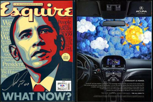 Shepard Fairey SIGNED Esquire Barack Obama Commemorative Ed PSA/DNA AUTOGRAPHED