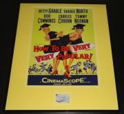 Sheree North Signed Framed 16x20 Poster Display How To Be Very Very Popular