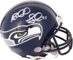 Richard Sherman Seattle Seahawks Autographed Riddell Mini Helmet - Mounted Memories