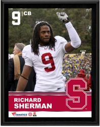 """Richard Sherman Stanford Cardinal Sublimated 10.5"""" x 13"""" Plaque"""