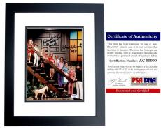Sherwood Schwartz Signed - Autographed BRADY BUNCH Creator 8x10 Photo - BLACK CUSTOM FRAME - PSA/DNA Certificate of Authenticity (COA)