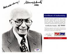 Sherwood Schwartz Signed - Autographed BRADY BUNCH Creator 8x10 inch Photo - Deceased 2011 - PSA/DNA Certificate of Authenticity (COA)