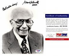 Sherwood Schwartz Signed - Autographed BRADY BUNCH Creator 8x10 inch Photo - Deceased 2011 - PSA/DNA Certificate of Authenticity (COA)