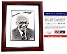 Sherwood Schwartz Signed - Autographed BRADY BUNCH Creator 8x10 Photo - MAHOGANY CUSTOM FRAME - PSA/DNA Certificate of Authenticity (COA)