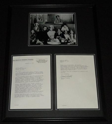 Sherwood Schwartz Signed Framed 2004 Typed Letter & Brady Bunch Photo Set