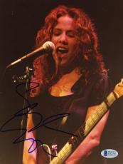 "Sheryl Crow Autographed 8""x 10"" Playing Guitar Eyes Closed Photograph - Beckett COA"