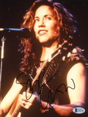 "Sheryl Crow Autographed 8""x 10"" Playing Guitar Smiling Photograph - Beckett COA"