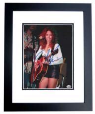 Sheryl Crow Autographed Concert 8x10 Photo BLACK CUSTOM FRAME
