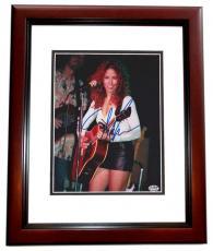 Sheryl Crow Autographed Concert 8x10 Photo MAHOGANY CUSTOM FRAME