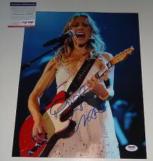 Sheryl Crow signed *All I Wanna Do* Music 11x14 photo PSA/DNA Authentic Y72753